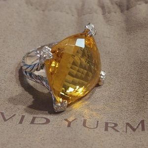 David Yurman 20mm On Point ring Lemon citrine 6.5